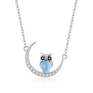 Colier din argint Owl's Moon