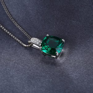Colier din argint Perfect Emerald