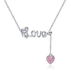Colier din argint Pink Love
