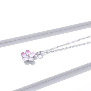 Colier din argint Pink Magnolia