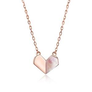 Colier din argint Rose Gold Paper Heart