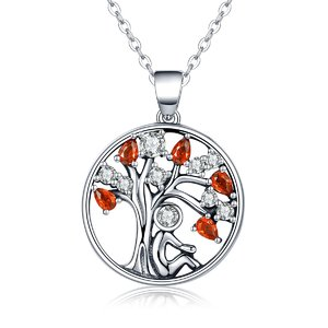 Colier din argint Rubin Tree