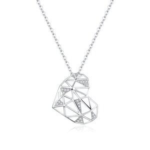 Colier din argint Segment Heart
