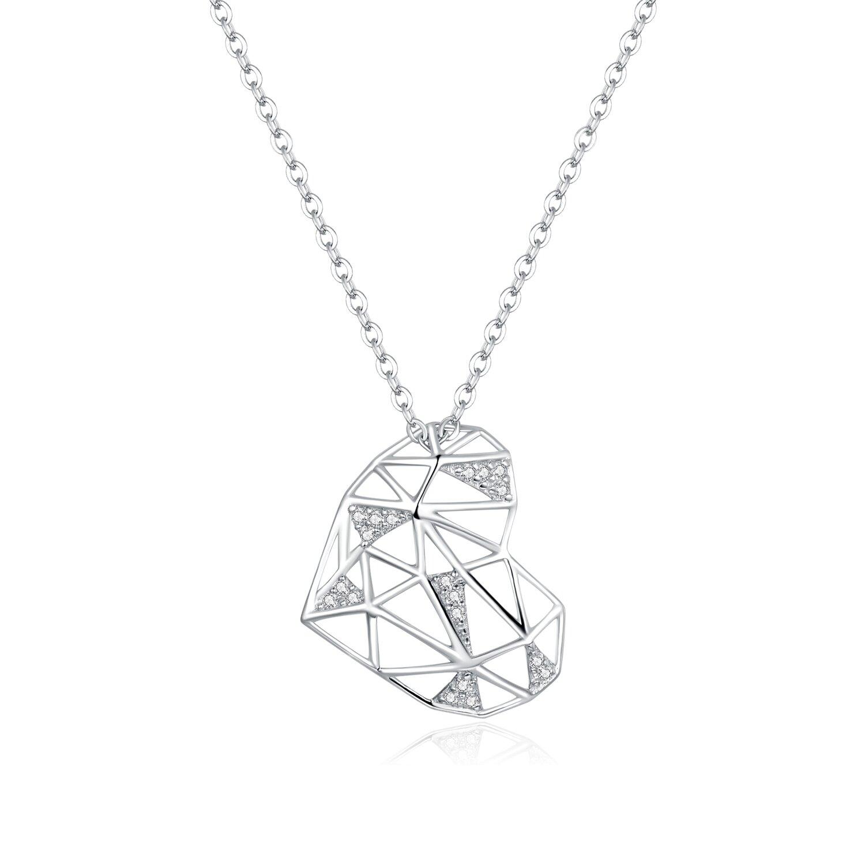 colier din argint segment heart 88486 4