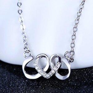 Colier din argint Silver Curly Heart