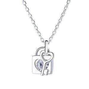 Colier din argint Silver Heart & Key