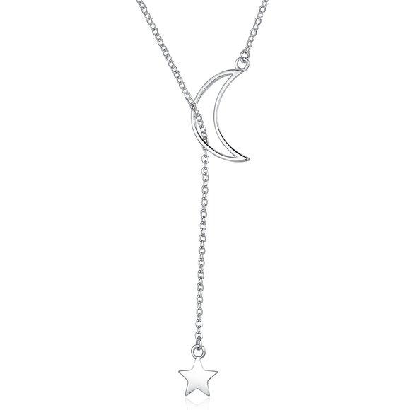 Colier din argint Silver Star & Moon