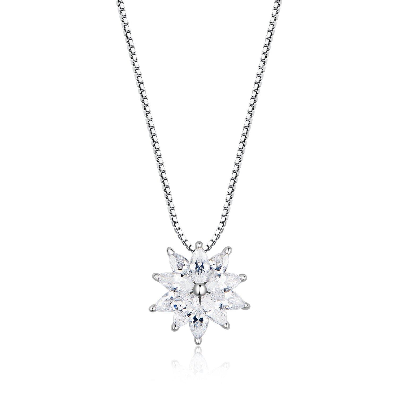 Colier din argint Sparkling Snowflake poza 2021