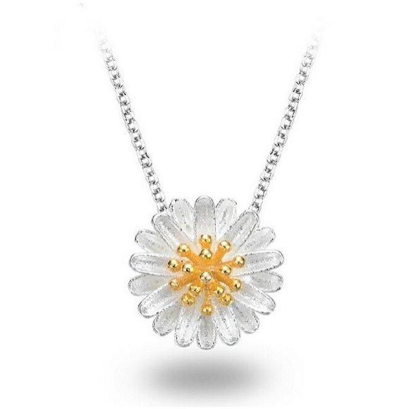 Colier din argint Sun Flower