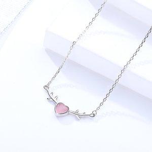 Colier din argint Sweet Pink Heart