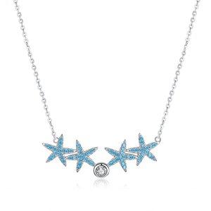 Colier din argint Turquoise Sea Stars