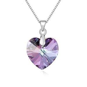 Colier din argint Vitrail Light Heart cu Cristal Swarovski