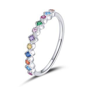 Inel din argint Amazing Rainbow