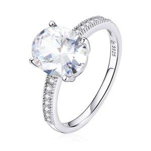 Inel din argint Big Round Crystal