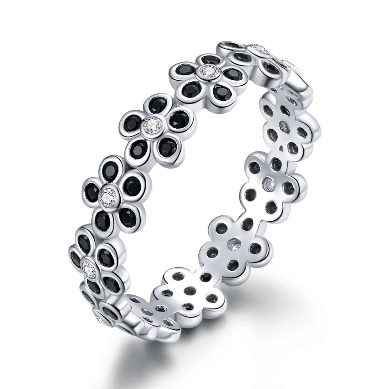 inel din argint black flowers 89986 4