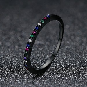 Inel din argint Black Rainbow