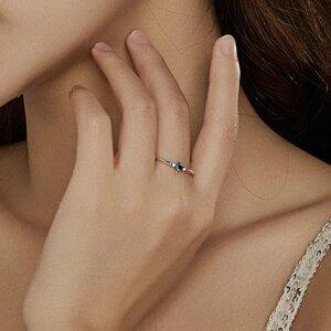 Inel din argint Blue Small Crystal