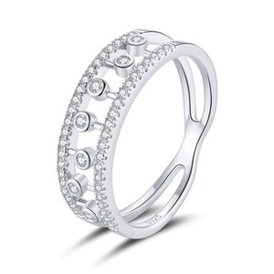 Inel din argint Bubble Crystals