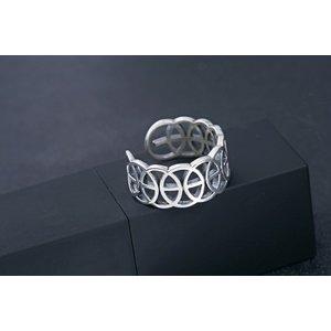 Inel reglabil din argint Celtic
