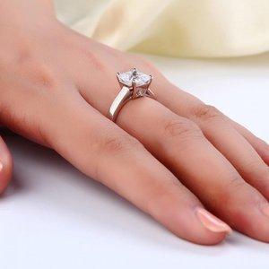 Inel din argint Classic Princess Cut