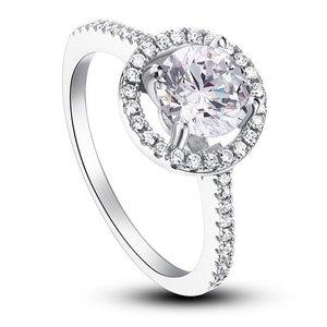 Inel din argint Classic Round Diamond