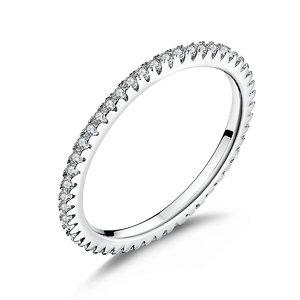 Inel din argint Clear Crystal Band