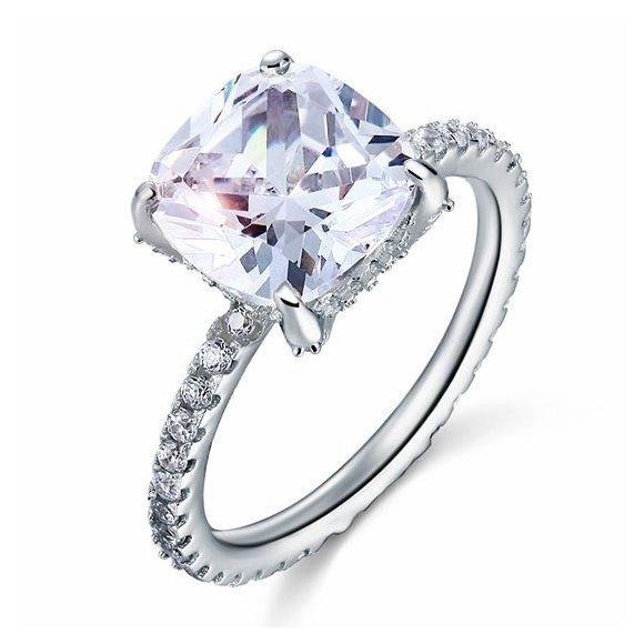 Inel din argint Clear Loving Diamond