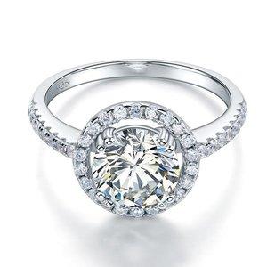 Inel din argint Clear Round Diamond