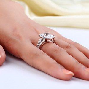 Inel din argint Cocktail Diamond Clear
