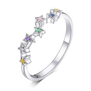 Inel din argint Colorful Stars