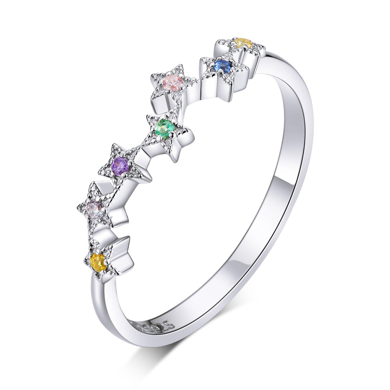 inel din argint colorful stars 74317 4