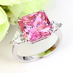Inel din argint Countess Diamond Pink