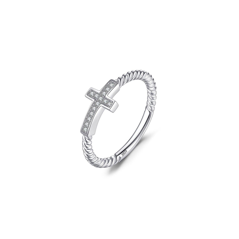 inel din argint crystal cross 76321 4
