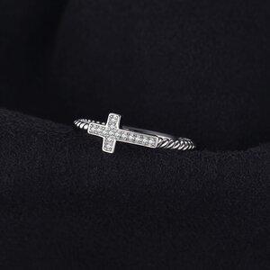 Inel din argint Crystal Cross