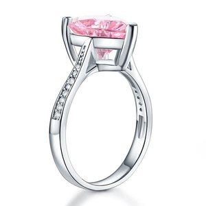 Inel din argint Crystal Heart Pink