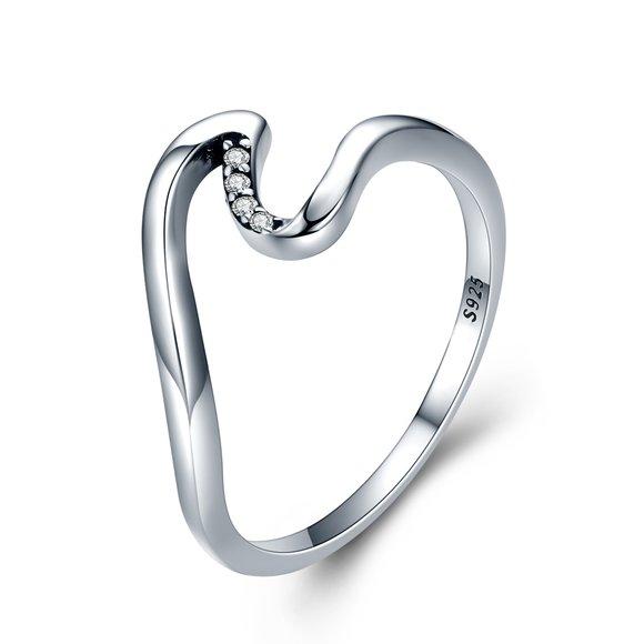 Inel din argint Crystal Summer Wave