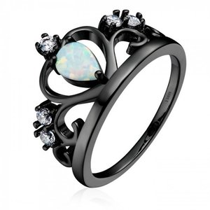 Inel din argint cu Coroana de Opal