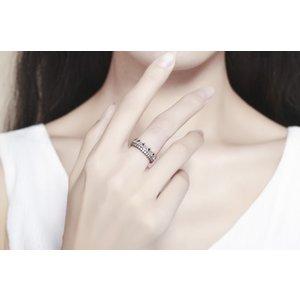 Inel din argint cu Coroana si Cristale