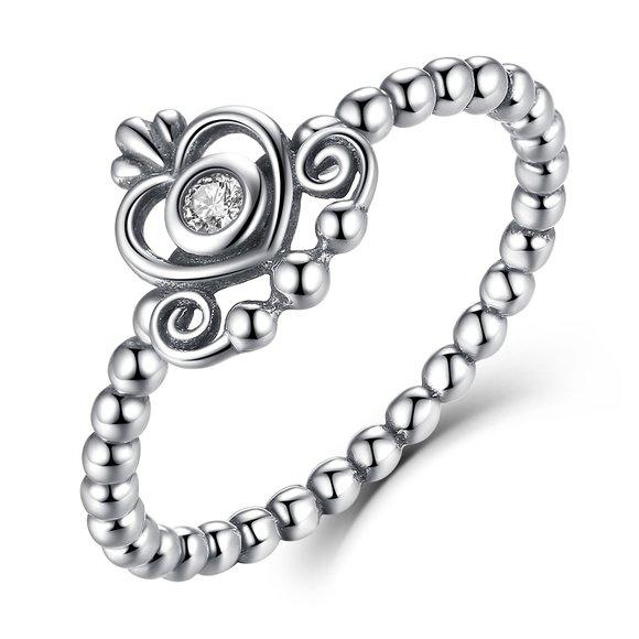 Inel din argint cu Inima Regala