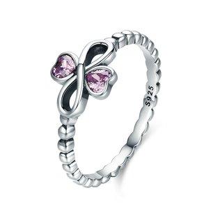 Inel din argint cu Inimioare si Simbolul Infinitului