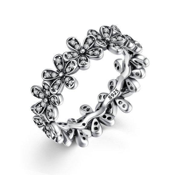 Inel din argint cu Margarete Infinite