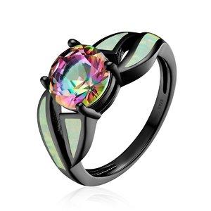 Inel din argint cu Opal si Sticla