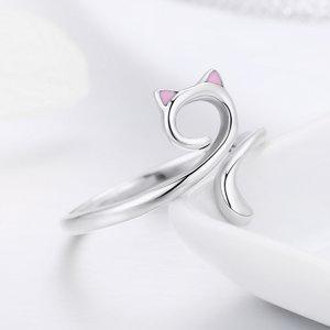 Inel din argint cu Pisica Aristocrata