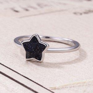 Inel din argint cu Stele Stralucitoare Aventurin