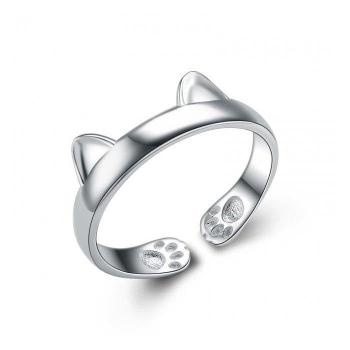 Inel din argint Cute Kitty poza 2021