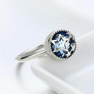 Inel din argint Dazzling Blue Sky