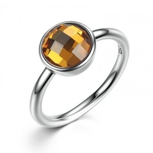 Inel din argint delicat cu Cristal Fatetat Aramiu