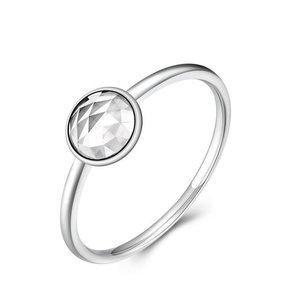 Inel din argint delicat cu Cristal Clar