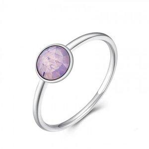 Inel din argint delicat cu Cristal Roz Opalescent