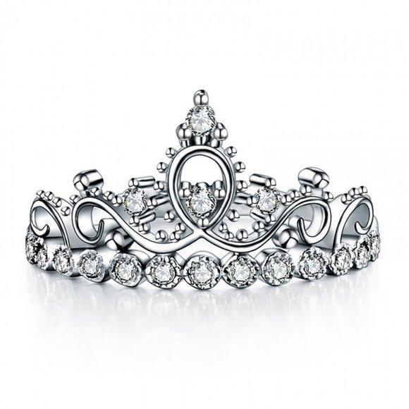 Inel din argint Diamond Amazing Crown